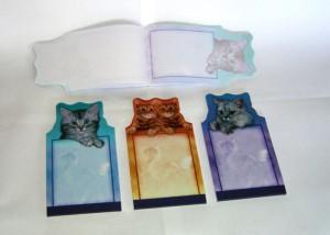 memo pads, die cut memo pads, animal notepad, animal memo pad