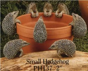 hedgehog flowerpot hanger, hedgehog ornament, animal pot hanger