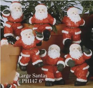 seasonal pot hangers, christmas pot hangers, pot hangers, santa pot decoration