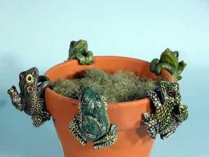 animal pot hangers, flowerpot decorations, pot hanger ornaments