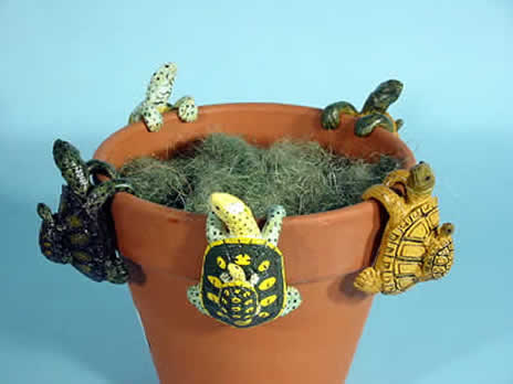 animal pot hangers, flowerpot decorations, pot hanger ornaments