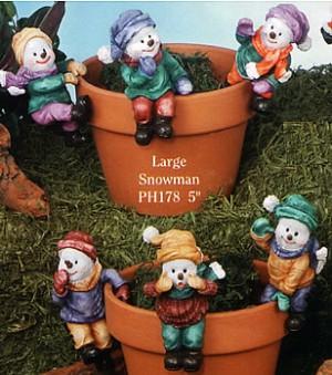 Christmas pot hangers, santa pothangers, snowman decorations