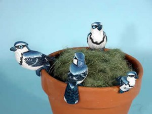 animals to hang on flowerpots, animal pothangers, plant pot decorations, bird plant pot decorations and ornaments