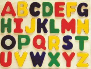 alphabet puzzle, wooden puzzle, toy puzzle