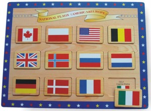 flag puzzle, wooden puzzle, toy puzzle, map puzzle, educational toy