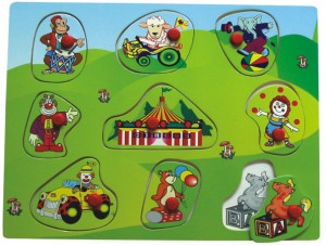 circus puzzle, gift for children, jigsaw puzzle, wooden puzzle, toy puzzle, peg puzzle, educational toy