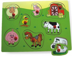 farmyard and garden puzzle, gift for children, jigsaw puzzle, wooden puzzle, toy puzzle,farm peg puzzle, educational toy
