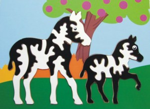 horse and zebra puzzle, wooden puzzle, toy puzzle, wooden jigsaw puzzle, educational toy