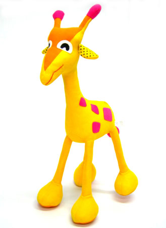 plush giraffe with poseable legs