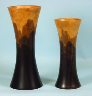 wooden vase, wooden bowl, mango wood bowl, mango wood vase, hand stained vase