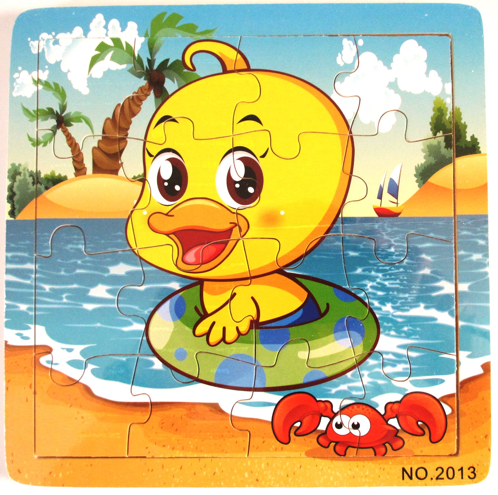 Ducking wooden jigsaw puzzle