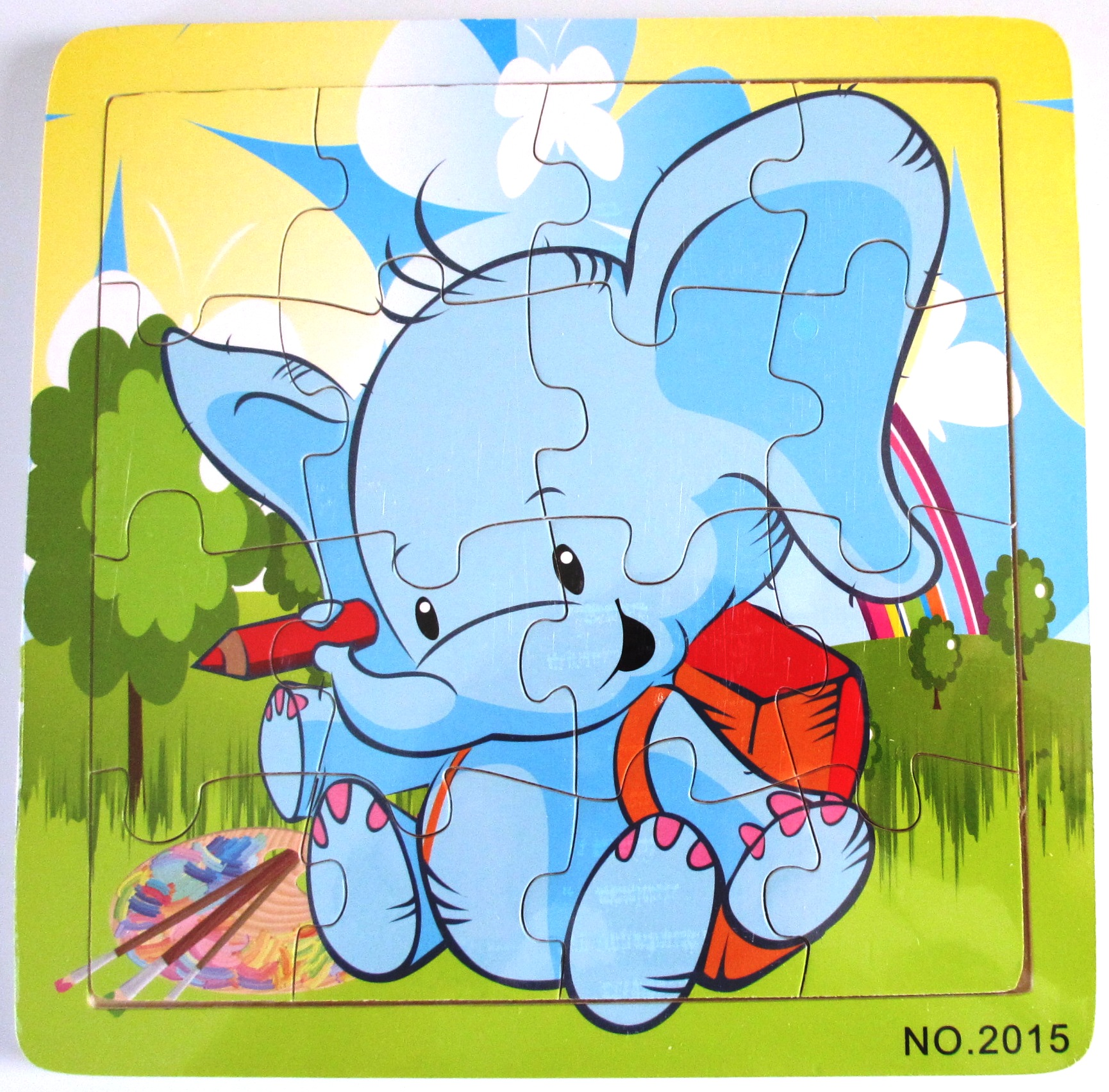 bay elephant wooden jigsaw puzzle