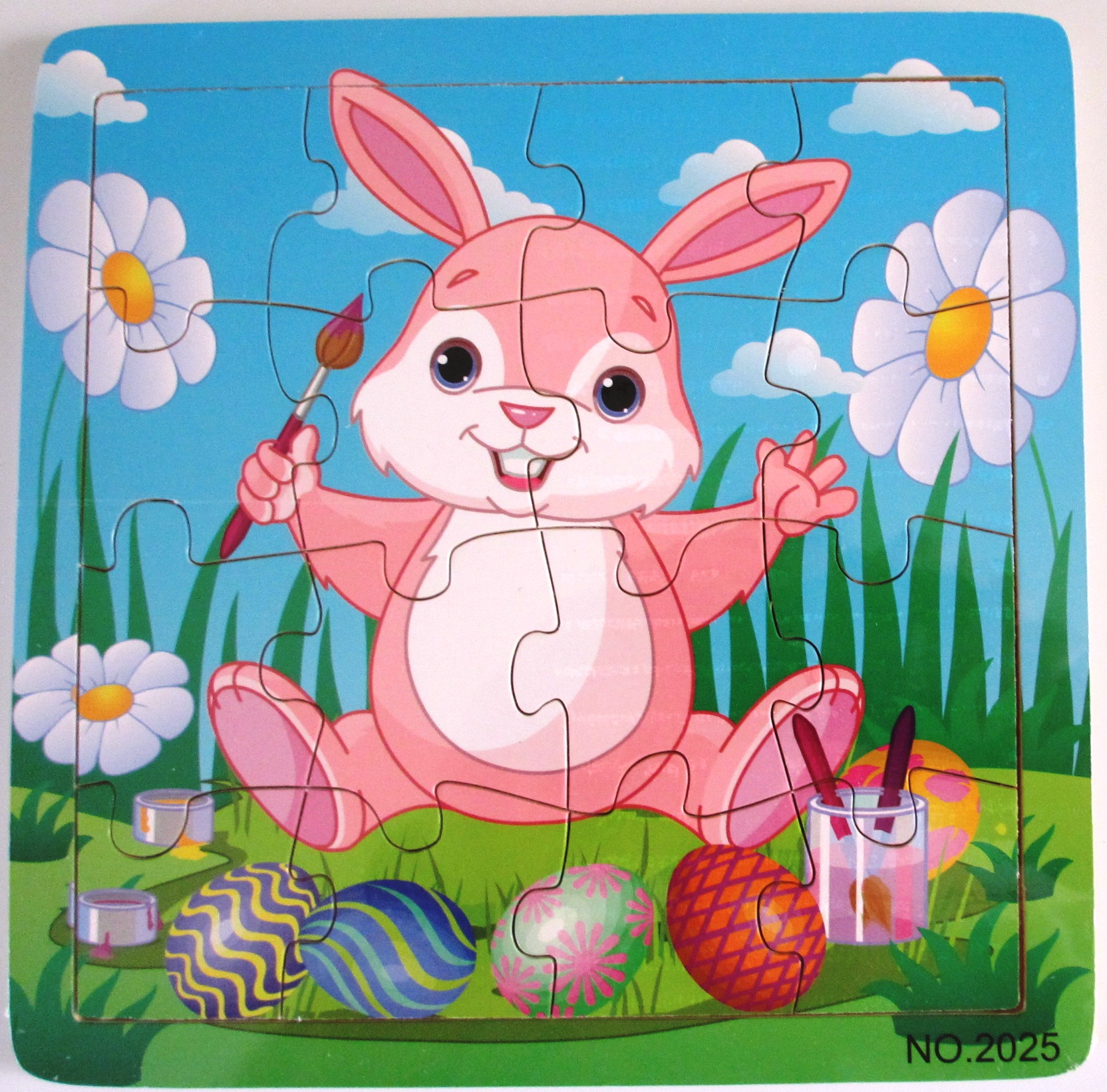 Rabbit wooden jigsaw puzzle