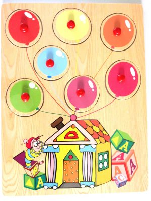 balloons wooden peg puzzle
