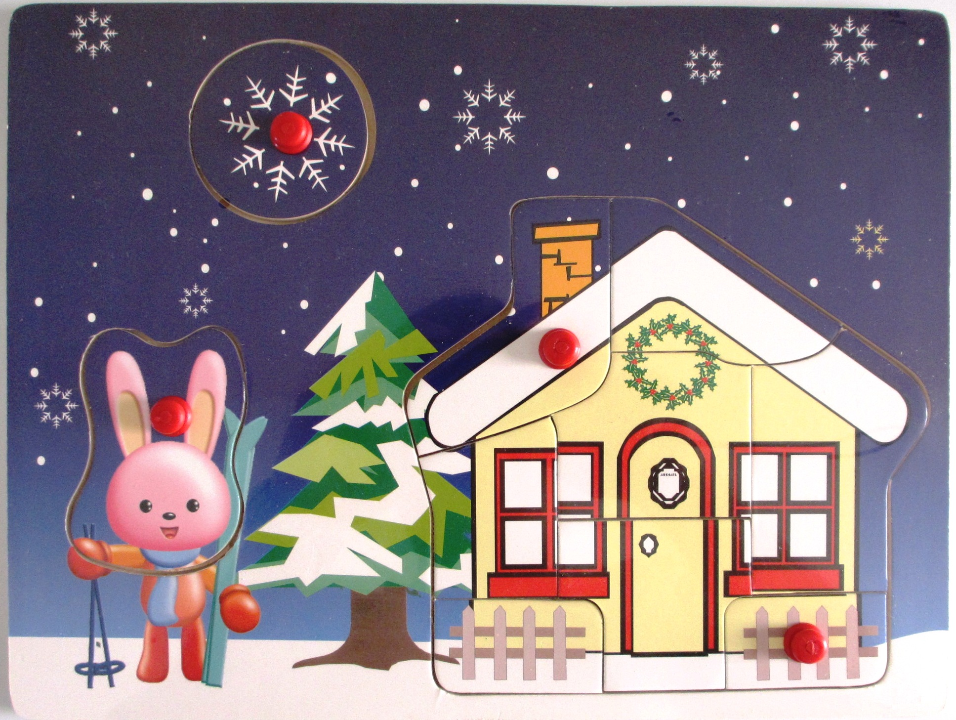 xmas wooden jigsaw puzzle