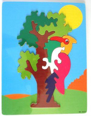 woodpecker wooden jigsaw puzzle