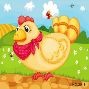 Wooden Jigsaw Puzzle, chicken