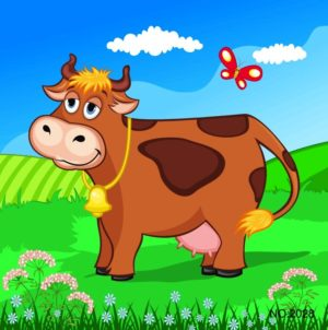 Wooden Jigsaw Puzzle, cow
