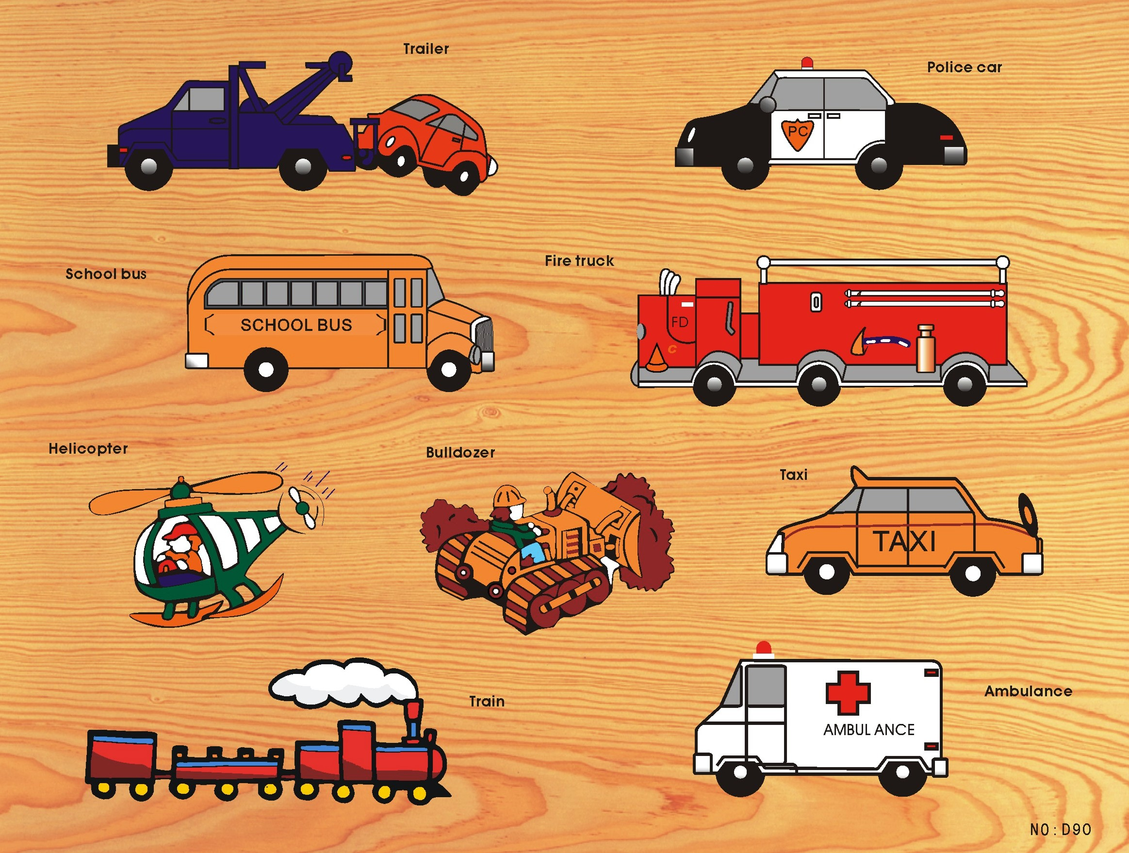 Wooden Jigsaw Puzzle, transport vehicles