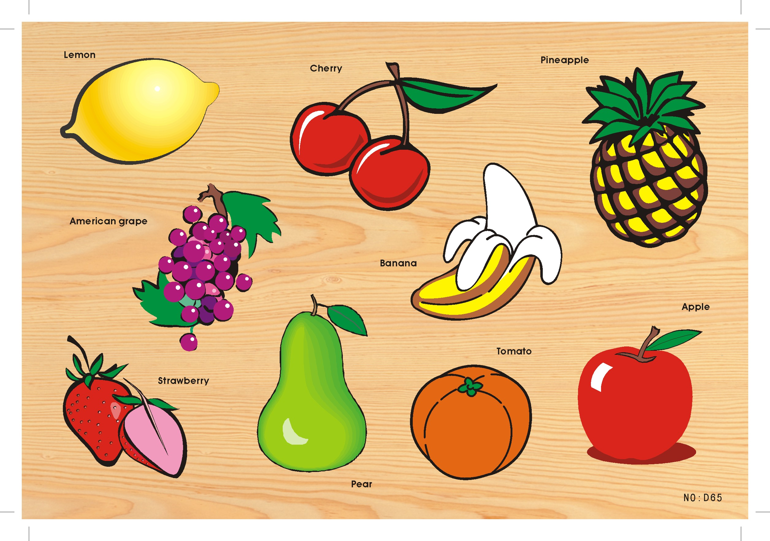 Wooden Jigsaw Puzzle, fruit
